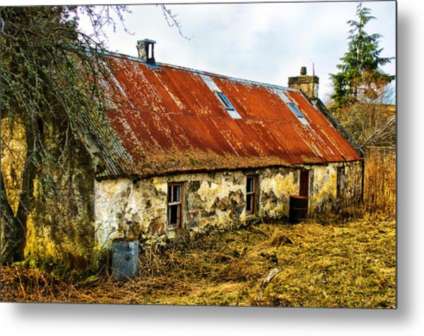 Scottish Highland Croft Metal Print