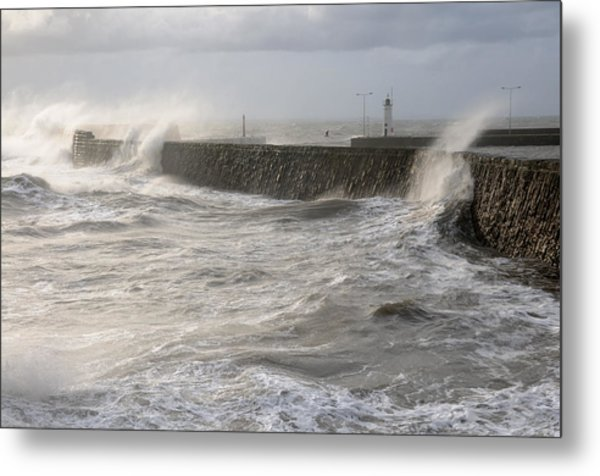 Scottish Sea Storm Metal Print