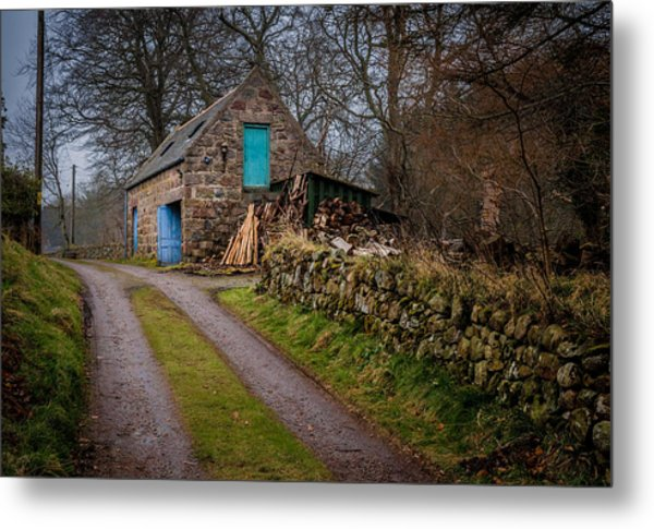 Scottish Stone Barn Metal Print