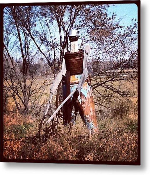 Scotts Bluff County #tin #man #farmer Metal Print