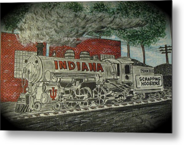 Scrapping Hoosiers Indiana Monon Train Metal Print