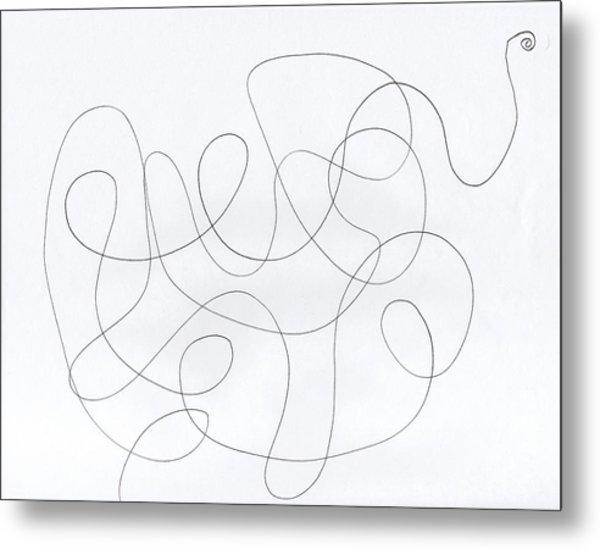 Scribble For 'banana Split' Metal Print