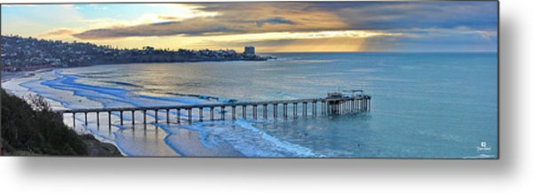Scripps Pier - To The Point Metal Print