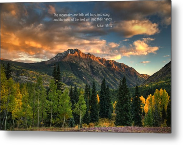 Scripture And Picture Isaiah 55 12 Metal Print