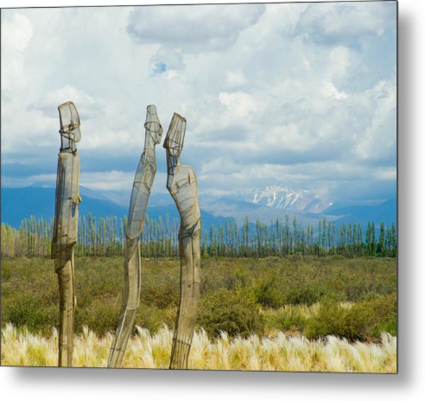 Sculpture In The Andes Metal Print