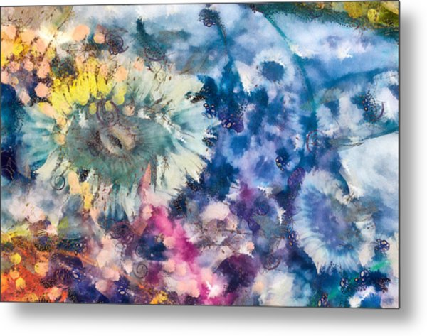 Metal Print featuring the mixed media Sea Anemone Garden by Priya Ghose