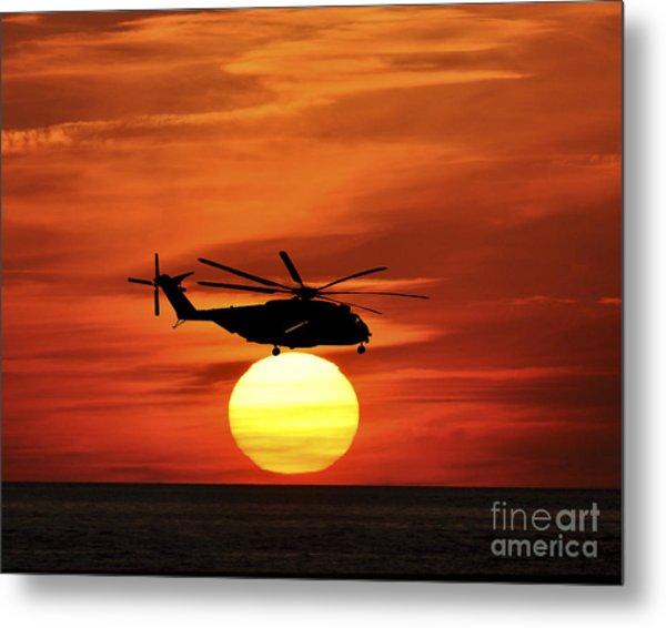 Sea Dragon Sunset Metal Print