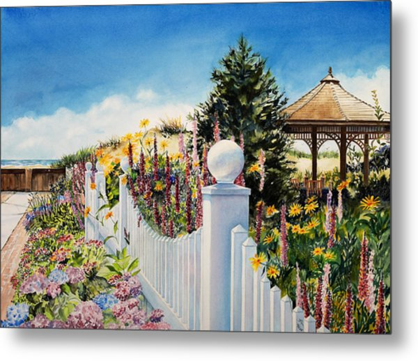 Sea Garden Walk Metal Print