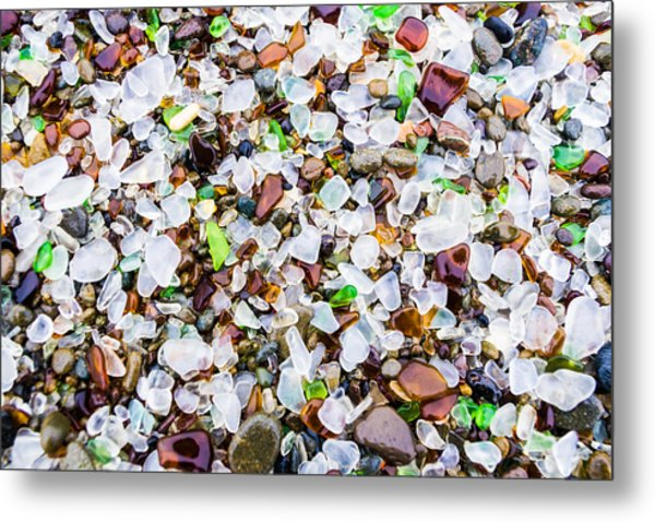 Metal Print featuring the photograph Sea Glass Treasures At Glass Beach by Priya Ghose