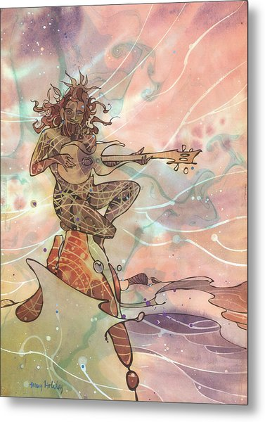 Sea God Guitarist Metal Print