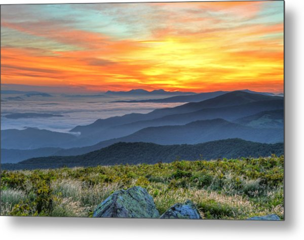 Sea Of A Sunrise Metal Print by Mary Anne Baker