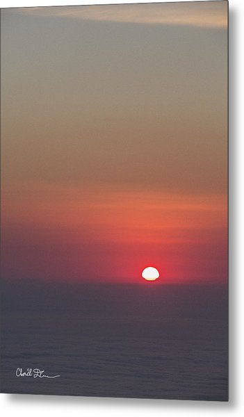 Sea Of Clouds Sunset Metal Print