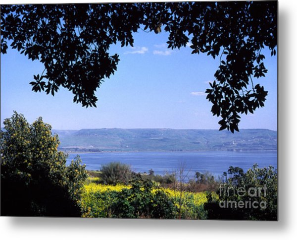 Sea Of Galilee From Mount Of The Beatitudes Metal Print