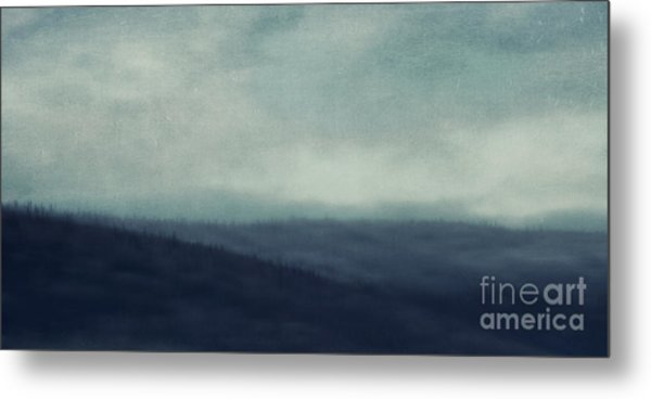 Sea Of Trees And Hills Metal Print