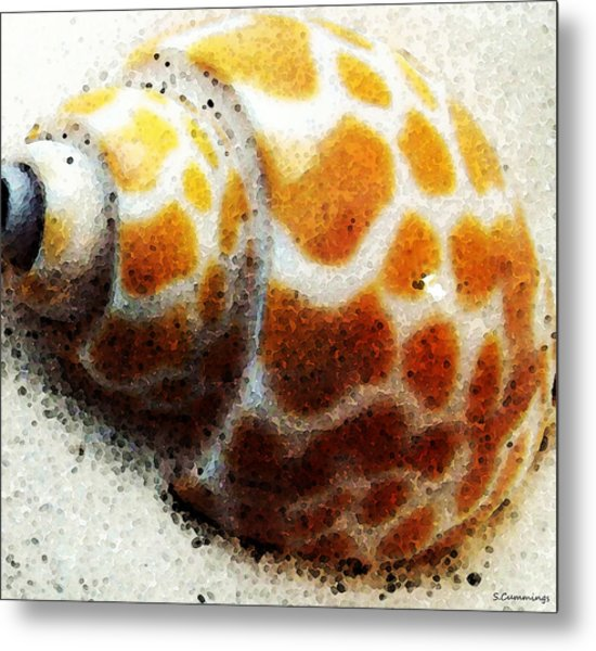 Sea Shell By Sharon Cummings Metal Print by William Patrick