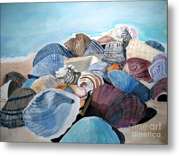 Sea Shells Metal Print