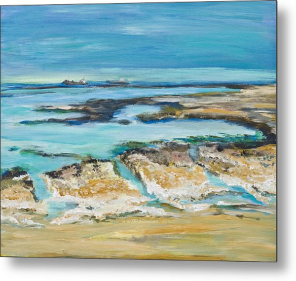 Sea Sky And Beach Metal Print
