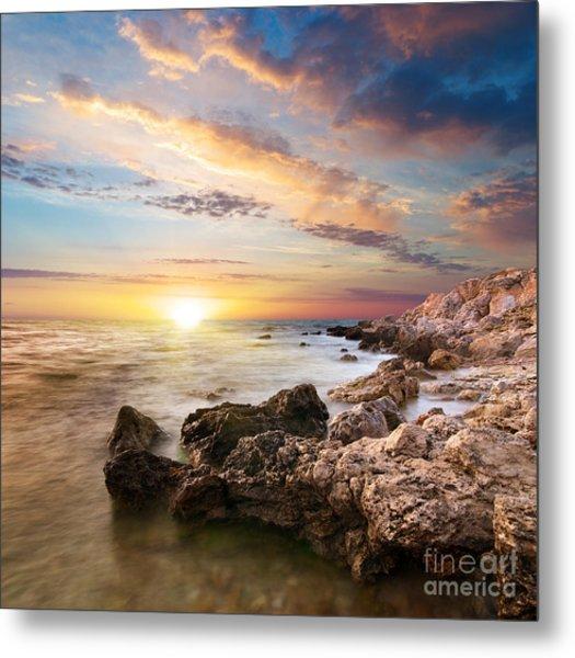 Sea Stones Metal Print by Boon Mee