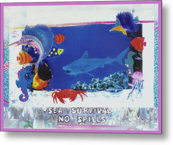 Sea Survival No Spills Metal Print by Mary Ann  Leitch