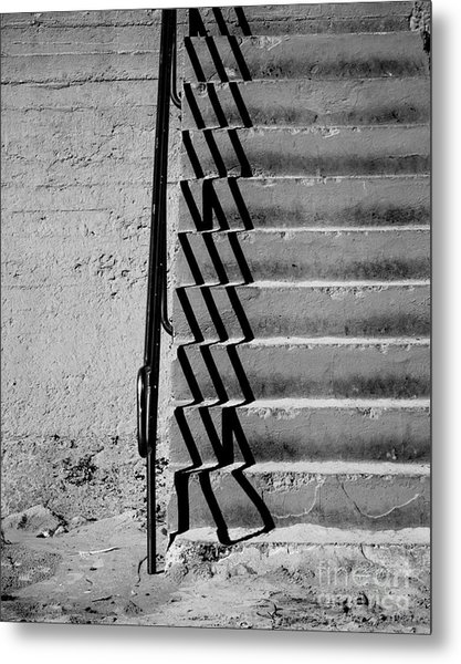 Sea Wall Steps Metal Print