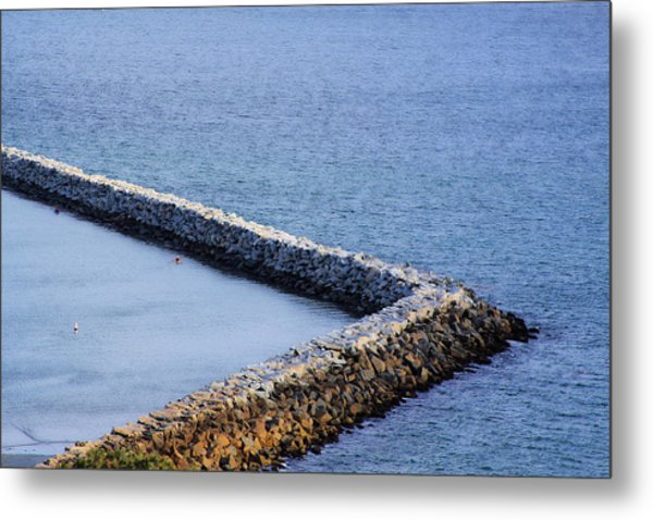 Sea Wall Metal Print