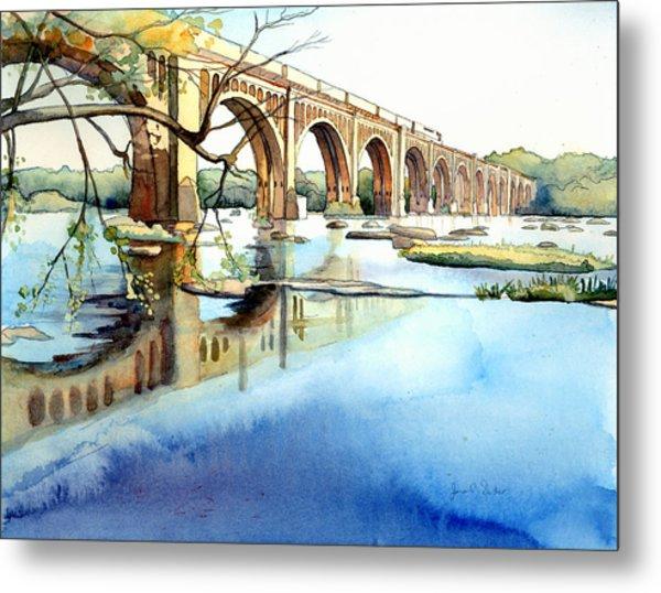 Seaboard Bridge Crossing The James  Metal Print