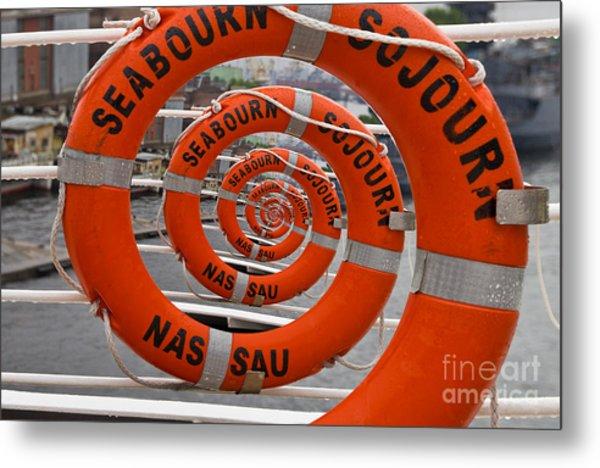 Seabourn Sojourn Spiral. Metal Print