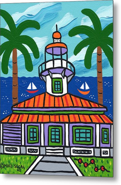 Seahorse Key Lighthouse Metal Print