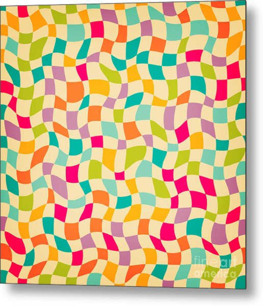Seamless Color Mosaic Background Metal Print by New Line