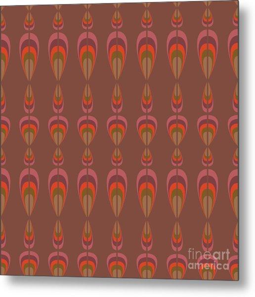 Seamless Geometric Vintage Wallpaper Metal Print