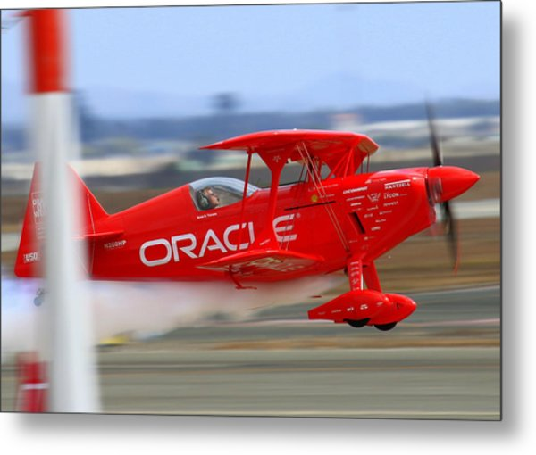 Sean Tucker And The Oracle Challenger II At Salinas Airshow Metal Print