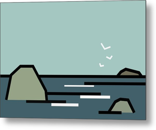 Seascape 3 Metal Print by Kenneth North