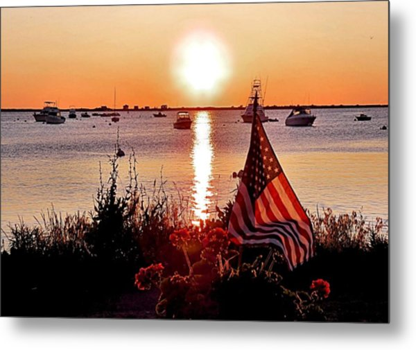 Seascape Sunrise Metal Print