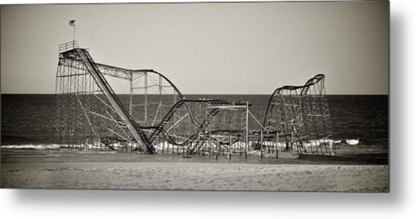 Seaside After Sandy Metal Print