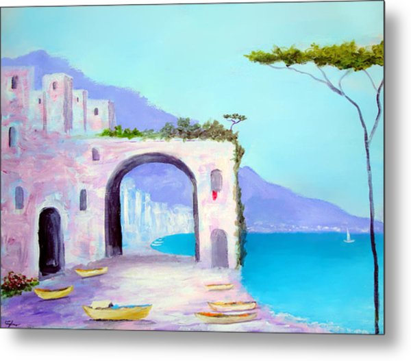 Seaside Colors Of Southern Italy Metal Print