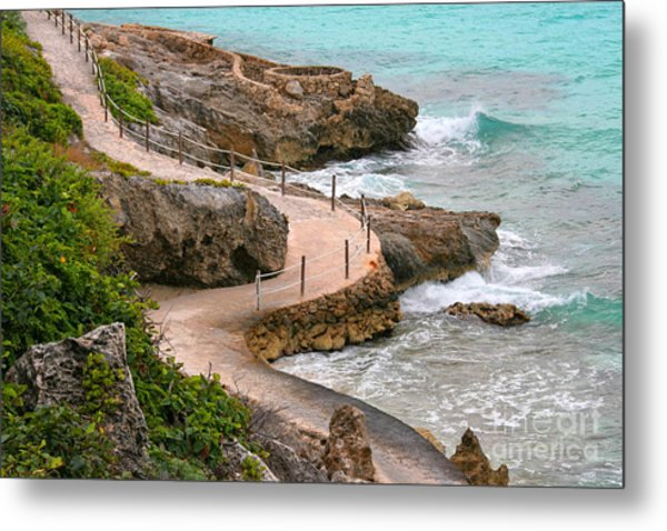 Seaside Path Metal Print