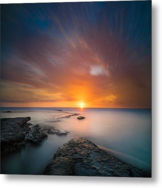 Seaside Sunset 2- Square Metal Print