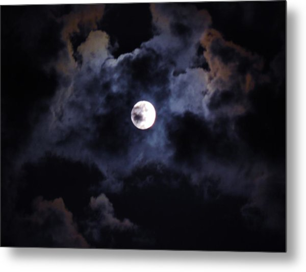 Seasonal Blue Moon IIi Metal Print