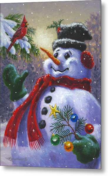 Seasons Greetings Metal Print