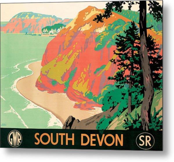 Seaton In Devon Metal Print