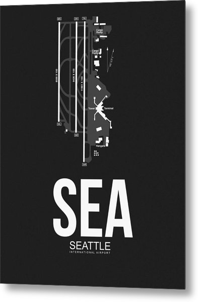 Seattle Airport Poster 1 Metal Print