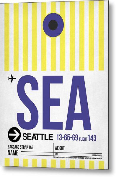 Seattle Airport Poster 3 Metal Print