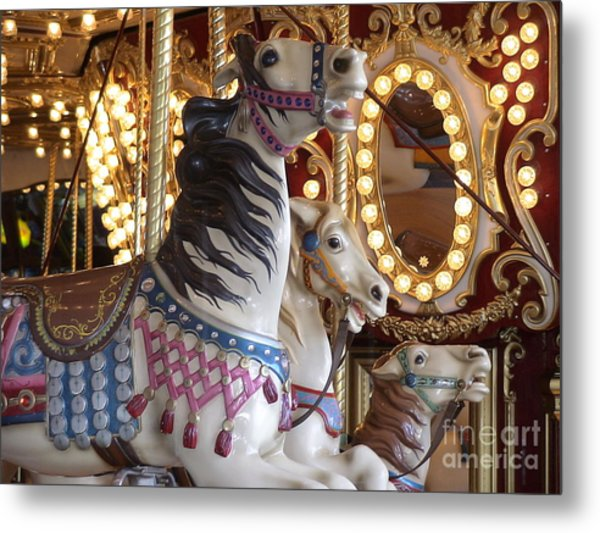 Seattle Carousel Metal Print