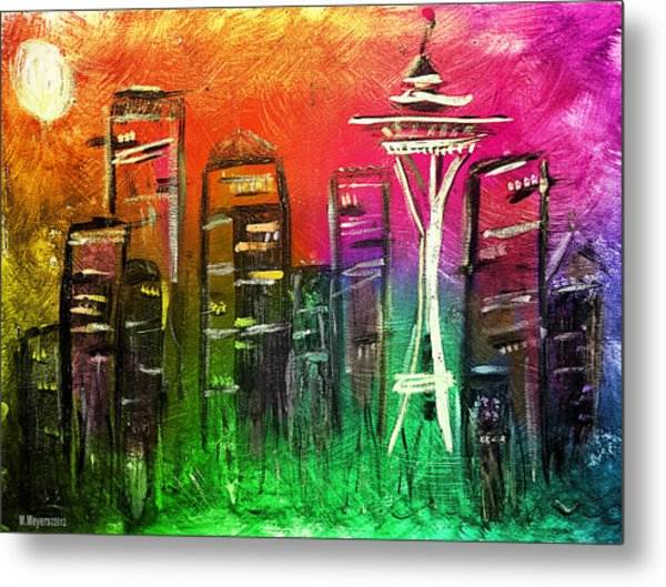 Seattle Land Of Color Metal Print by Melisa Meyers