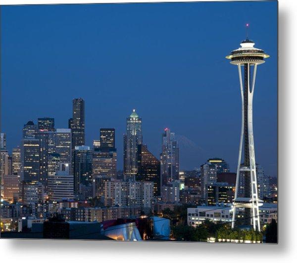 Seattle Nights Metal Print by David Yack