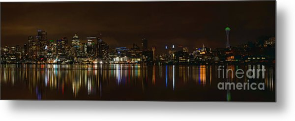 Seattle Panorama Metal Print by Eddie Yerkish