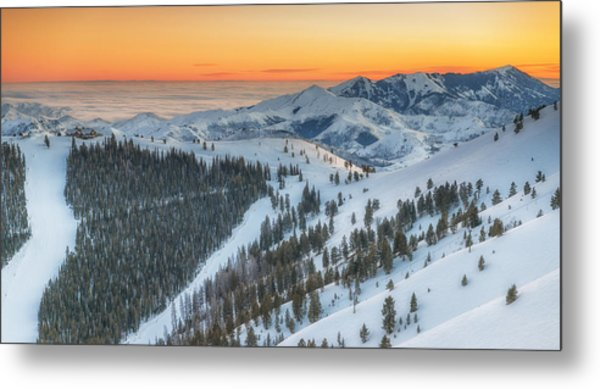 Seattle Ridge Sunset Metal Print
