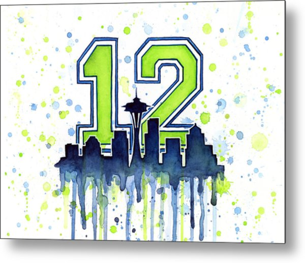 Seattle Seahawks 12th Man Art Metal Print