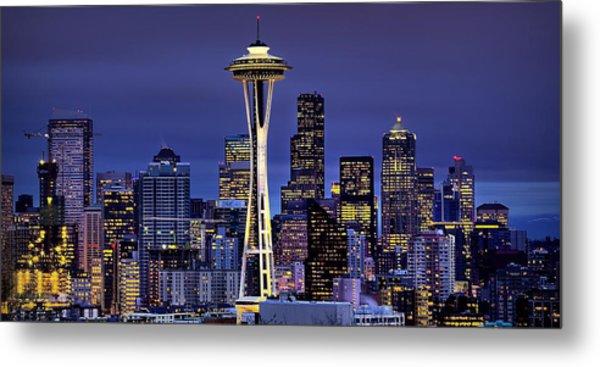 Seattle Skies Metal Print