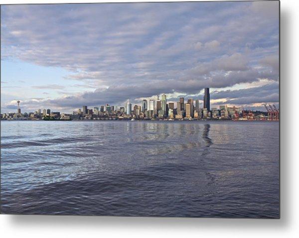 Seattle Skyline Cityscape Metal Print